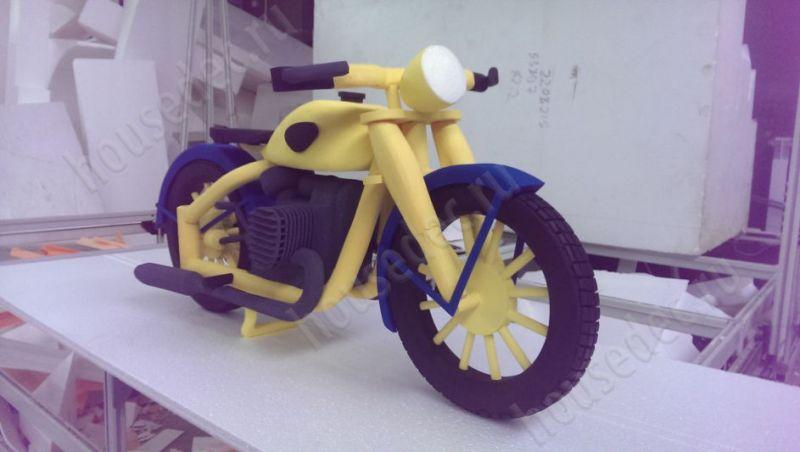 3d мотоцикл из пенопласта