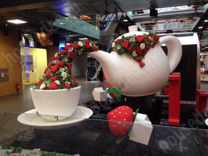 Чайный сервис из пенопласта