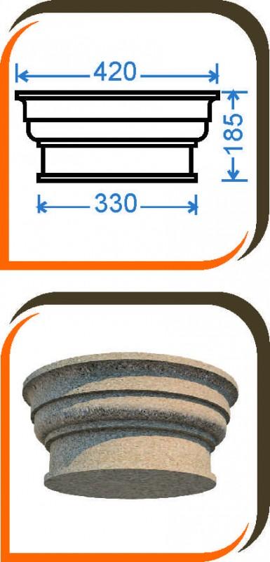 Капитель колонны (половинка) КК-004