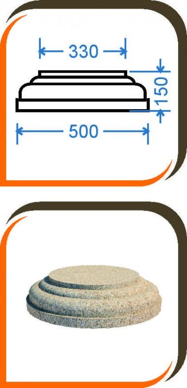 База колонны (половинка) БК-003