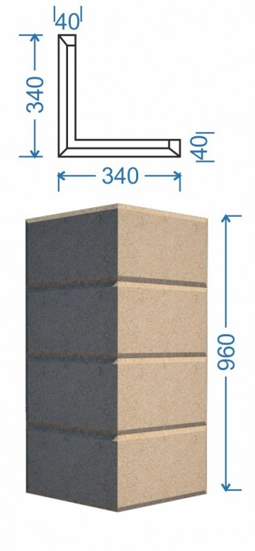 Угловой элемент Б-007